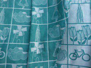 Yaro Dutch Tiles Emerald katoen