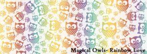 Natibaby Magical Owls Rainbow Love 100% katoen