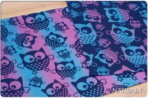 Natibaby Magical Owls Color Rain 100% katoen