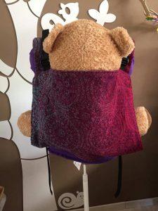 Natibaby Rosetta Crimson 2, onbuhimo (toddler (peuter/kleuter) rugpand, medium schouderbanden)