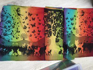Natibaby Magical Forest Fairies of the Rainbow black 100% katoen