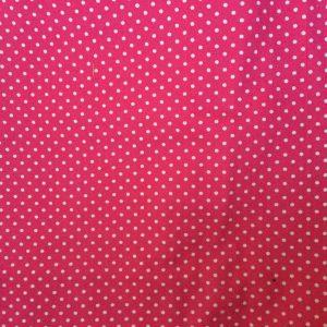 roze met witte stippen decoratiestof (rugpand)