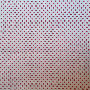 wit met roze stippen decoratiestof (rugpand)