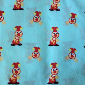 Efteling Jokie mintgroene decoratiestof (rugpand)